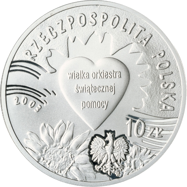 "Poland 2003-2 zlotych /""10 Years of The Great Orchestra of Christmas Charity/"""