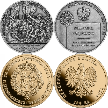 Images and prices of coins 230th Anniversary of the Constitution of 3 May 1791 – the magnum opus of the revived Polish - Lithuanian Commonwealth