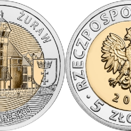 Images and prices of coins The Crane Gate in Gdańskk