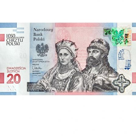 Banknoty 20 Zl Chrzest Polski Enumi Pl