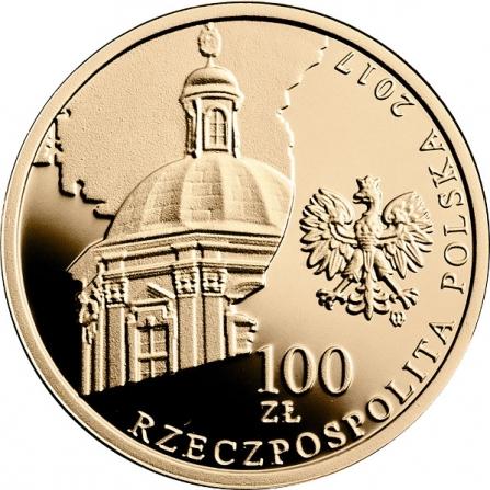 Awers monety100 zł 200-lecie istnienia Zakładu Narodowego im. Ossolińskich